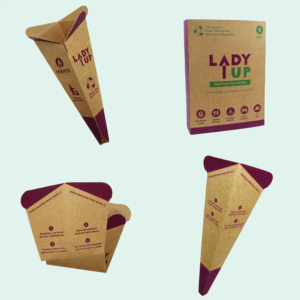 Lady Up urinario femenino desechable en distintas vistas