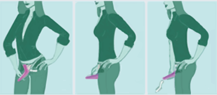 Lady Up proceso de uso de urinario femenino
